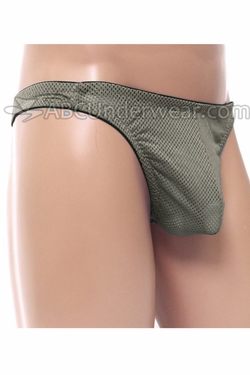 Gregg Mens Sporty Mesh Pouch Thong Underwear - Silver