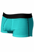Mens Stretch Cotton Pouch Trunk Underwear - Blue Atoll