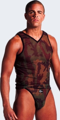 Mesh Camouflage Tank Top