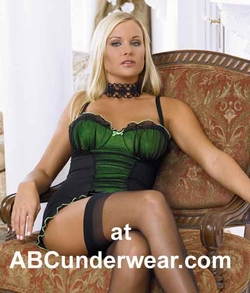 Mesh Gathered Chemise and G-String