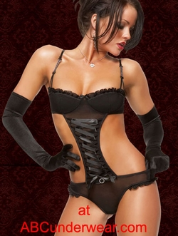 Mesh Teddy With Rhinestone Clasps