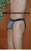 Metal Mesh Look Fabric Jock Strap