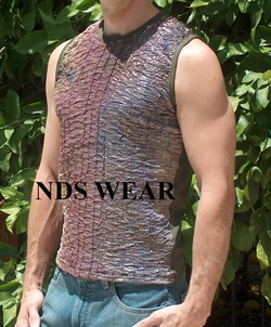 Metallic Foil Muscle Shirt
