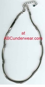 Metallic Rubber Necklace