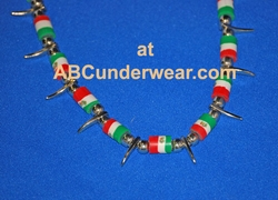 Mexican Flag Necklace