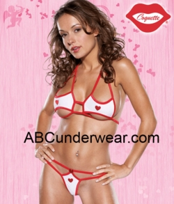 Microfiber Bikini Set with Hearts