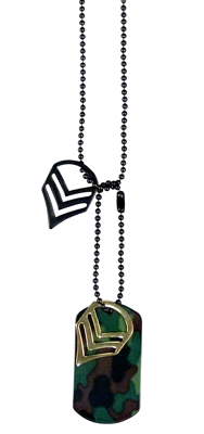 Military Staff Sargent Necklace