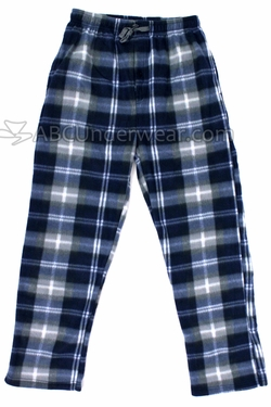 Mountain Cabin Plaid Fleece Pajama Pants -Calm Night