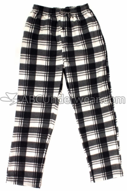 Mountain Cabin Plaid Fleece Pajama Pants - Snowy View