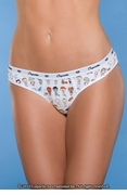 Naughty People Print Women's Thong
