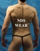 NDS Wear Black Athletic Mesh Thong