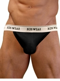 NDS Wear Cotton Mesh Jockstrap Black