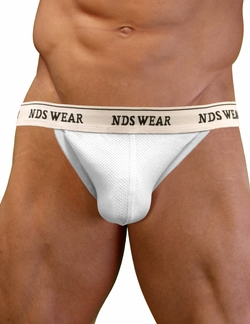 NDS Wear Cotton Mesh Jockstrap White