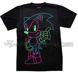 Neon Sonic The Hedgehog T-Shirt