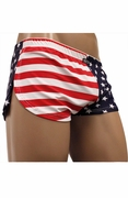 Neptio USA Flag Retro Athletic Side Split Short