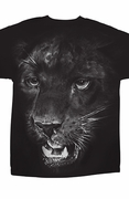 On The Hunt - Big Cat Print T-Shirt