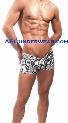 Optical Zebra Short Swimsuit