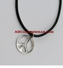 Peace Sign Adjustable Necklace