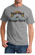 Personalized Custom Solid Gray T-Shirt