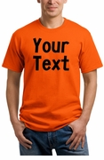 Personalized Orange T-Shirt, Halloween Shirt