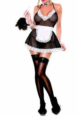 Plus Size Hot Angel Chamber Maid - Black