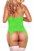 Plus Size Neon Lace Cupless Merry Widow in Lime Green