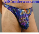 Rainbow Metallic Thong