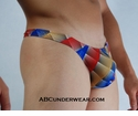 Rainbow Metric Thong