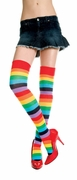 Rainbow Stripes Multi Color Thigh Hi