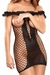 Ruffle Net Dress w/ Cupless Option - Black
