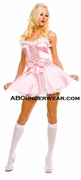 Satin Princess Dress with Bow Costume