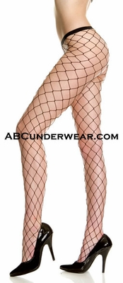 Seamless Diamond Net Fence Pantyhose