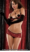 Sequin Bra & Skirted Thong Set - Clearance