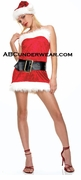 Sexy 3 pc Mrs. Clause Costume - Closeout