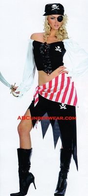 Sexy Pirate Girl Costume - Closeout