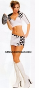 Sexy Racer Girl Outfit Costume - Closeout