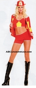 Sexy Woman Firefighter Costume -Closeout