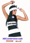 Sexy Women's Prisoner Costume - Clearance
