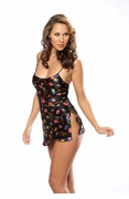Silk Dice Chemise Lingerie for Women