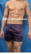 Silk Lounge Boxer - Small-Purple