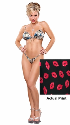 Silk Lips Bra and G-string - Clearance