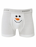 Snowman Face Boxer Brief by TooLoud