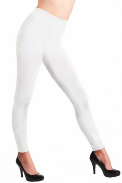 Solid White Seamless Leggings