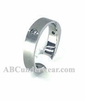 Stainless Steel Ring with Cubic Zirconia Stones