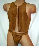 Mens Suede Vest - Clearance