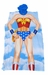 Superman & Wonder Woman Poncho Costume/Lounge wear