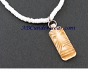 Tiki Puka Bone Necklace