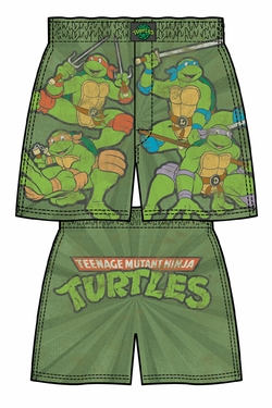 TMNT Logo Action Mens Boxer