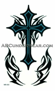Tribal Cross Temporary Tattoo