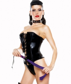 Vamp Bustier and Thong Costume - Clearance
